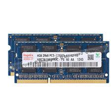 8GB 2X 4GB RAM DDR3 SODIMM 204-PIN 1600 MHz PC3-12800 LAPTOP HP IBM DELL MEMORY
