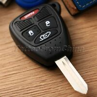 Keyless Entry Remote Control 4 Buttons Key Fob Shell Case for Chrysler Jeep 1PC