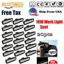 20pcs 6inch 18W Spot LED Work Light Car Truck Driving Fog Offroad SUV 4WD Bar US