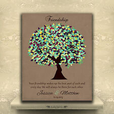 (LT-1189) Personalized Personalized Gift For Friendship Poem Green Canopy Tre...