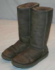 Ugg Australia Gray Grey Classic Tall Boots Sz 8 Style 5815 Sheepskin
