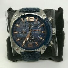 DIESEL MEN'S Overflow Chronograph Denim Band Watch