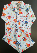 BNWT Boys Sz 6 Under Cover Crew Sky Robot Long Flannel Winter Style PJ Pyjamas