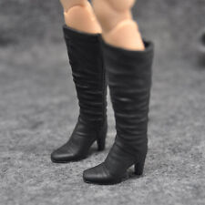 """1/6 scale female girls black hight combat boots shoes fit 12"""" figure toys"""