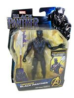 "MARVEL Black Panther Movie VIBRANIUM BLACK PANTHER with Gear 6"" Figure - NEW!"