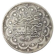 TURKEY 10 KURUS Kuruş SILVER KM# 751 MUHAMMAD V AH 1327/9