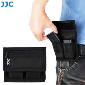 JJC 2 Slot Camera Battery + Card Pouch Bag Holder for Nikon Z50 Fujifilm X100V