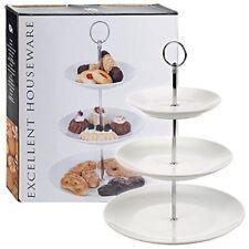 Niveau 3 Porcelaine Céramique Coupe Support Gâteau Élégant Assiettes Service