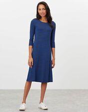 Joules Casey Navy & Midnight Blue Stripe Drapey Jersey Dress UK 16 EUR 44.