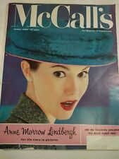 McCall's Magazine October 1956 News/Fiction/Homemaking/Style/Ads Free Shipping