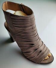 """Report """"Potts"""" Women's Open Toe Platform Zip Slingback Heels Size 10"""