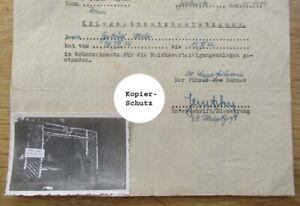 2 alte Dokumente Schanzeinsatz für die Reichsverteidigung für ein Mädchen KONIN