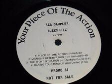 "Vintage Vinyl 1981 Bucks Fizz  RCA SAMPLER ""Piece Of The Action"" (PROMO 54) RARE"