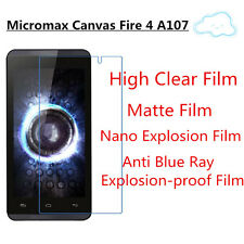 3pcsFor Micromax Canvas Fire4 A107 Good Touch Matte,High Clear Screen Protector