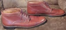 Johnston & Murphy Men's 10 N Chukka Boots Made In Italy Brown Leather 10 narrow