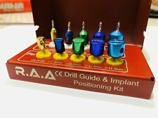DENTAL DRILL GUIDE AND IMPLANT POSITIONING KIT TITANIUM GUIDED SURGERY PINS