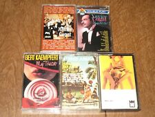 xavier cugat    2 sealed cassettes   + 3 bonus tapes   MS22