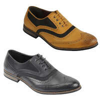 Mens Retro Vintage Wing Tip Leather Brogue Smart Casual Office Shoes UK Sizes