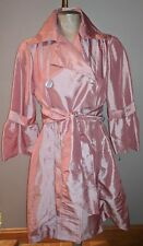 NWT HOLLY IN HANOI TRENCH COAT RAINCOAT BELTED JACKET PASTEL PINK M LADIES
