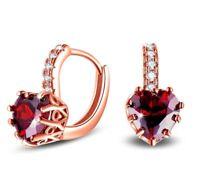 Hook Crystal Wedding GP Studs Earrings Austrian Rose 18K Bridal Zircon