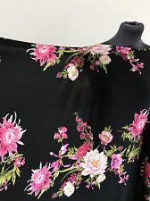 Botanical Dahlia & Vintage Rose Floral/Flower Print Jersey Dressmaking Fabric