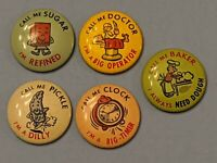 "Vintage lot 5 ""Call Me"" Button Pin Pinback old various colors READ DESCRIPTION"