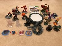 SKYLANDERS Lot =21 Action Figures /Pieces and PORTAL OF POWER for Xbox 360 BONUS