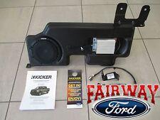 """15 thru 17 F-150 OEM Ford Kicker Audio 8"""" Sub Speaker & 100w Amp Upgrade Kit NEW"""