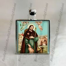 St Roch Rocco Of Montpellier Catholic Medal Pendant Patron Religious Jewelry