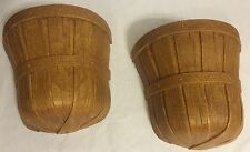 Set Of 2 Vintage Homco 1989 Basket Wall Pocket Hanging Decor Brown USA Retro Fun