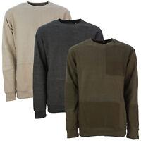 Mens 'Fearless' Print Fashion Sweatshirt Designer Branded Casual Crew Neck Top