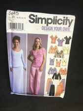 (AI) 5445 KK 8-14 Vtg Simplicity Sewing Pattern Design Your Own Top Skirt Pants