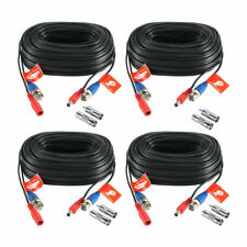 2x100 Feet Video and Power Cable for CCTV Security Cameras fit Night Owl Cameras