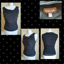 Stunning Phase Eight Fitted Ribbed Top Black Cowl Neck UK 10
