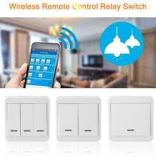 Interruptor de control remoto inalámbrico 433MHz transmisor de radio frecuencia 86 Panel Pared 1 2 3 Botones
