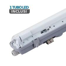 plafoniera neon tubi led 1x18 watt 1 luce 120 cm 120° 220-240 vo tec 639729