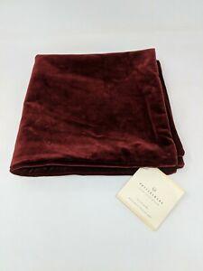 Pottery Barn Velvet Pillow Cover Euro Square Sham 20 X 20 Burgundy Dark Red NEW
