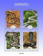 Guinea-Bissau - 2019 Snakes on Stamps - 4 Stamp Sheet - GB190809a