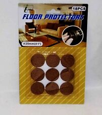 """Home 18 Floor Protectors Can Be Applied On Glass, Metal, Plastic & Wood 1."""" 25mm"""