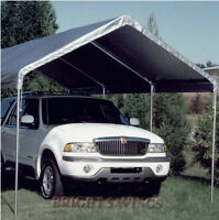 NEW KING CANOPY REPLACEMENT COVER TOP - SILVER - 10' X 20' FREE SHIPPING