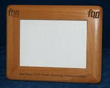"""Personalized Laser Engraved 5""""x7"""" Alder Wood Photo Frame - Round Corners"""