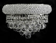 Palace Bagel  2 Light Crystal Wall  light Chrome fixture