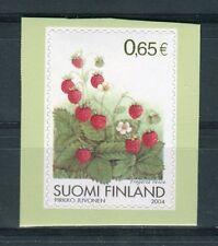 Finlandia /Finland 2004  Frutta fragola di bosco autoadesivo  MNH