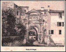 STAMPA  1894 BELLUNO PORTA DI RUGO BORGO DI PIAVE FEDERICO CORNARO TERRA COTTA