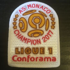 Ligue 1 French Football League Shirt Monaco Patch Iron On Badge Champions 2017