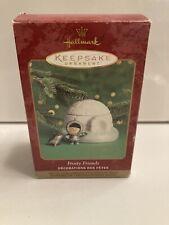 2000 ~ Hallmark Frosty Friends Keepsake ~ Porcelain Display & Pewter Ornaments