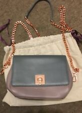 New Genuine Ted Baker Chelsii CrossBody Small Bag Mauve Purple Brown Leather