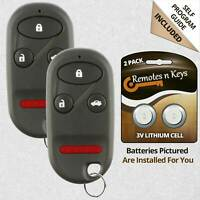 2 For Honda Accord 1998 1999 2000 2001 2002 Keyless Entry Remote Key Fob