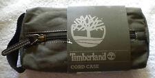 New Timberland Designer Men's Ladies Green Canvas Cord Case Travel Bag Kit