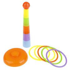 Hoop Ring Toss Plastic Ring Toss Garden Game Pool Toy Outdoor Fun for KiQA